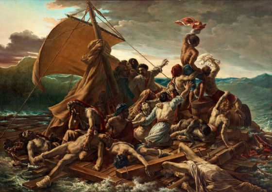 Gericault, Theodore: The Raft of the Medusa. Fine Art Print/Poster. Sizes: A4/A3/A2/A1 (001863)